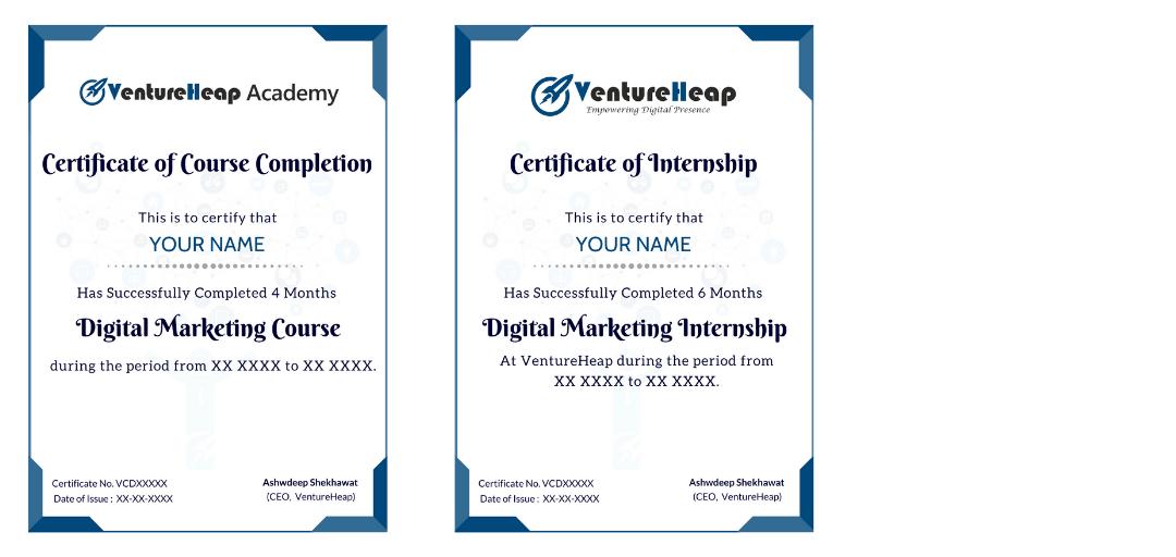 Digital marketing Course certificate in Hanumangarh